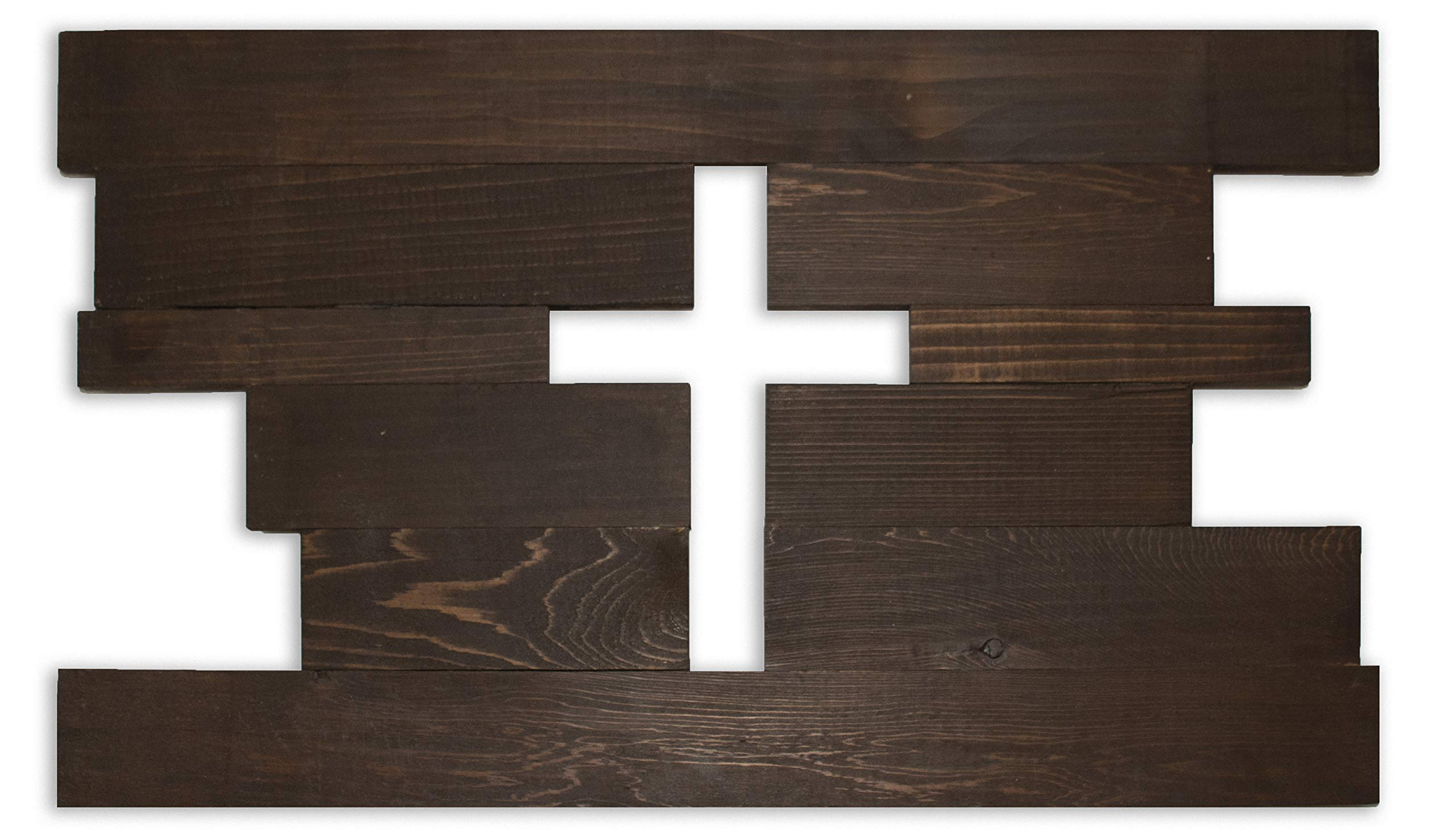 Alder & Elder Walnut Wall Cross 14''x24'' Wall Mounted