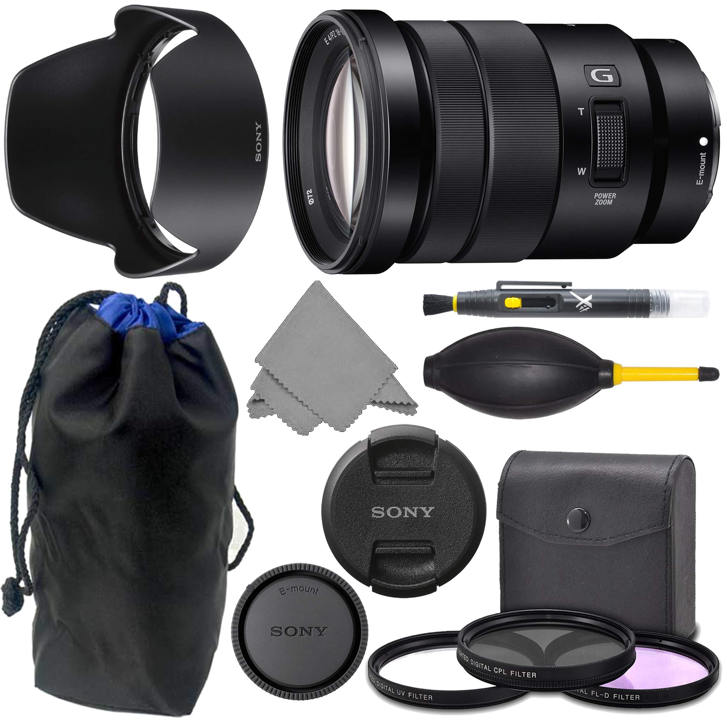 Sony E 18-105mm f4 SELP18105G: Sony E PZ 18-105mm f/4 G OSS Lens + AOM Pro Kit Combo Bundle - International Version (1 Year AOM Warranty) by AOM