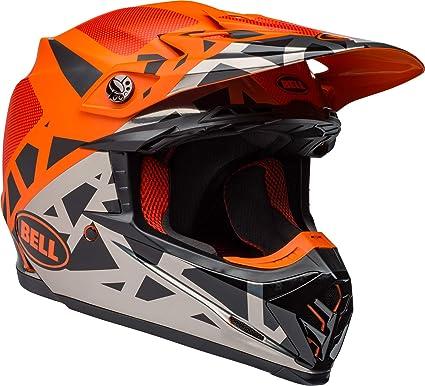 113d65716567b Bell Moto-9 MIPS Off-Road Motorcycle Helmet (Tremor Matte/Gloss  Black/Orange/Chrome, Large)