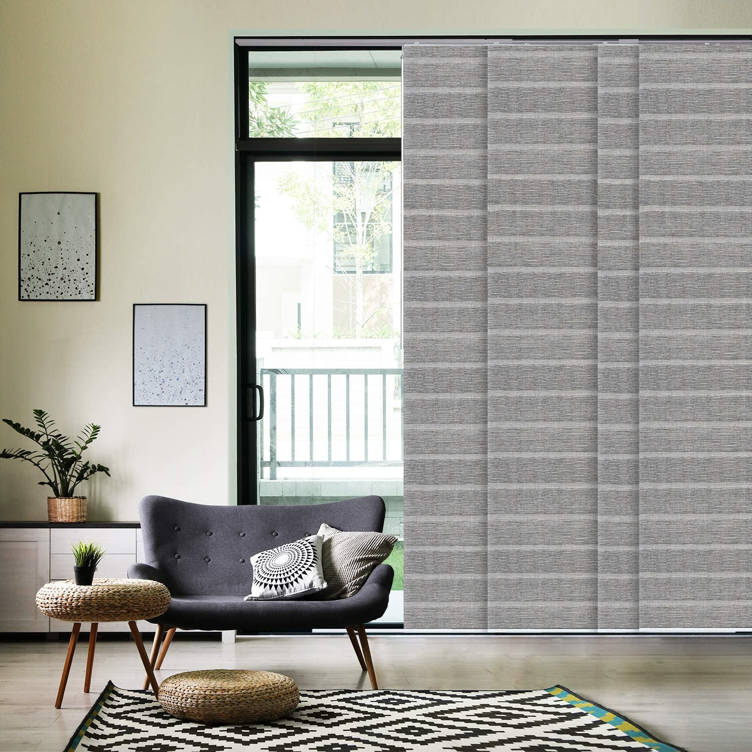 Details about  /Henlow Graphite Made To Measure Textured Dim-out Roller Blind Complete Blind