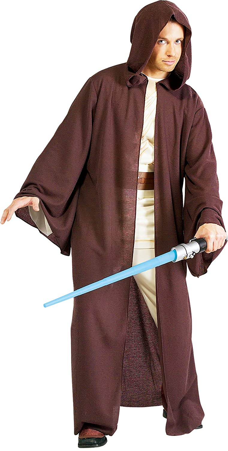 Star Wars Deluxe Hooded Jedi Robe Costume Brown One Size Rubies Costumes - Apparel 56089STD