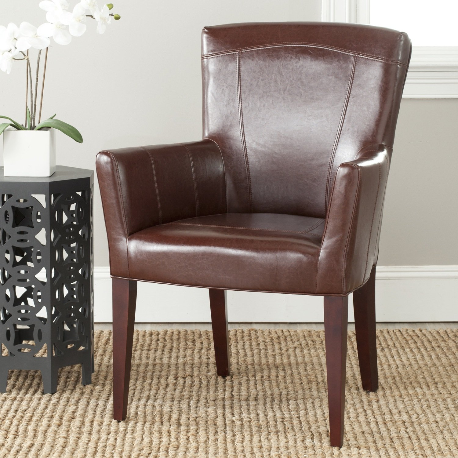 arm kate with arms product homepop accent chairs tufted swoop chair