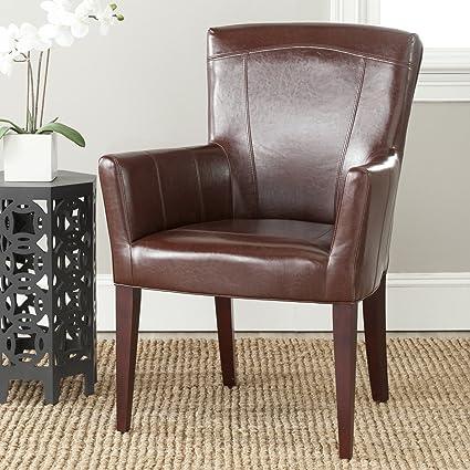 Safavieh MCR4710A Dale Arm Chair Accent Chairs (Brown) & Amazon.com: Safavieh MCR4710A Dale Arm Chair Accent Chairs (Brown ...