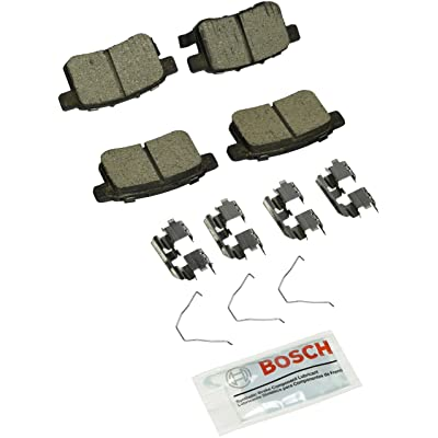 Bosch BC1451 QuietCast Premium Ceramic Disc Brake Pad Set For: Acura TSX; Honda Accord, Rear: Automotive