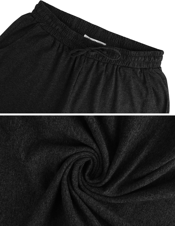 Hawiton Pantalones Deportivos para Mujer Algod/ón Pantalones de Pijama Largos Invierno Pantal/ón de Ch/ándal para Gimnasio Deportes Correr Entrenamiento Jogging