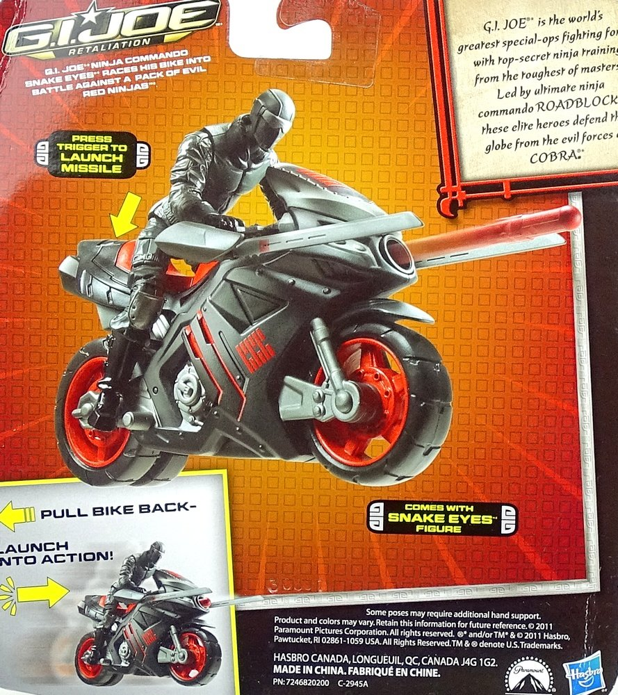 G. I. Joe Snake eyes with Ninja Speed Cycle - retalia Tion ...