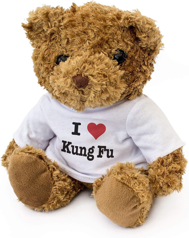 Cute Soft Cuddly Teddy Bear Gift Present Birthday Xmas I Love KUNG FU