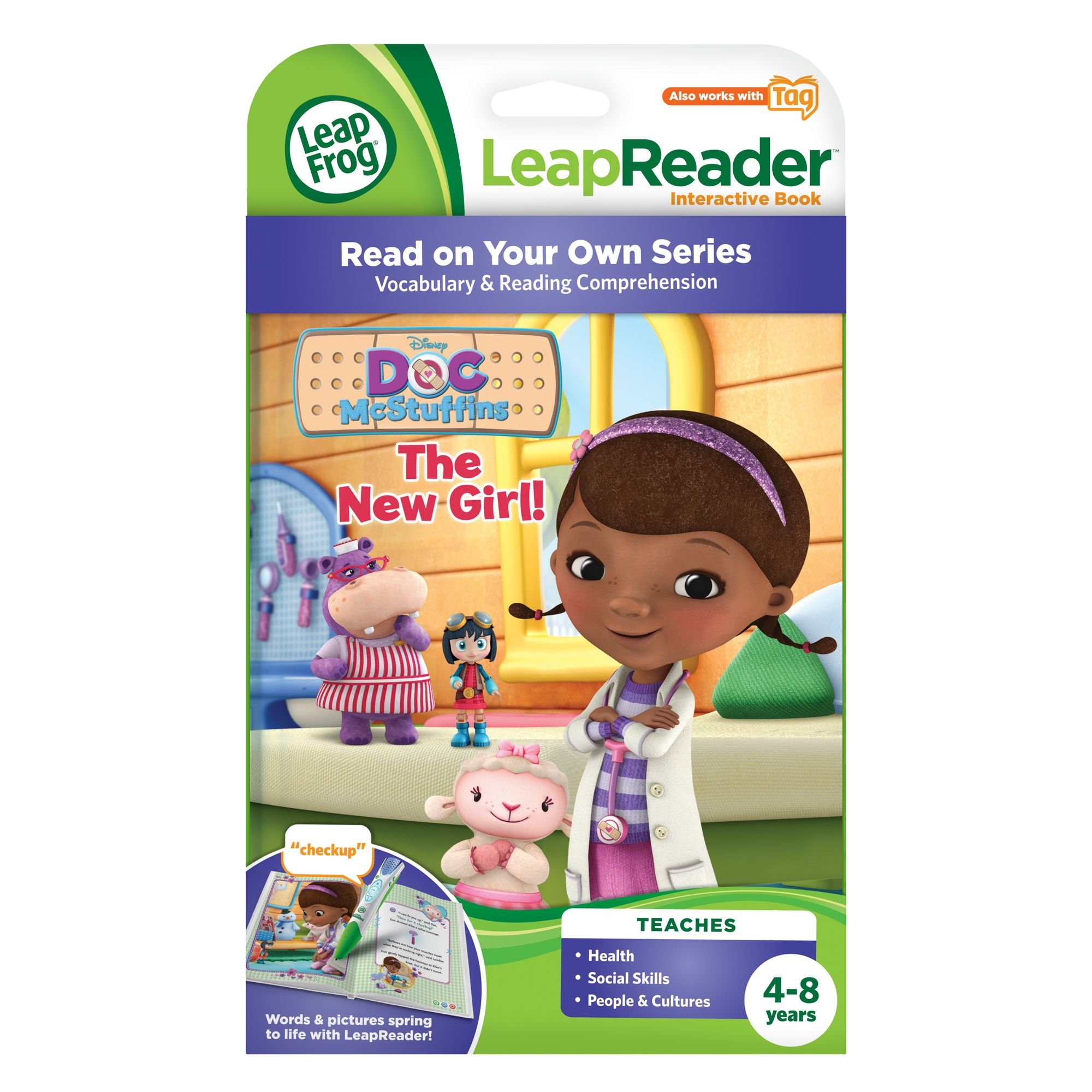 LeapFrog LeapReader: Disney Doc McStuffins: The New Girl Read On Your Own Book works with Tag by LeapFrog (Image #3)