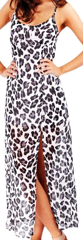 erdbeerloft - Damen Transparentes Kleid Leo Print, 38-42, Mehrfarbig