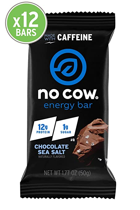 The No Cow Chocolate Sea Salt Energy bar travel product recommended by Amanda Maxwell on Pretty Progressive.