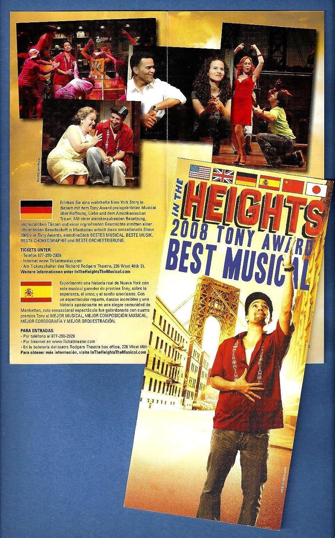 Lin-Manuel Miranda 'IN THE HEIGHTS' Priscilla Lopez / Tony Award Winner 2008 Flyer