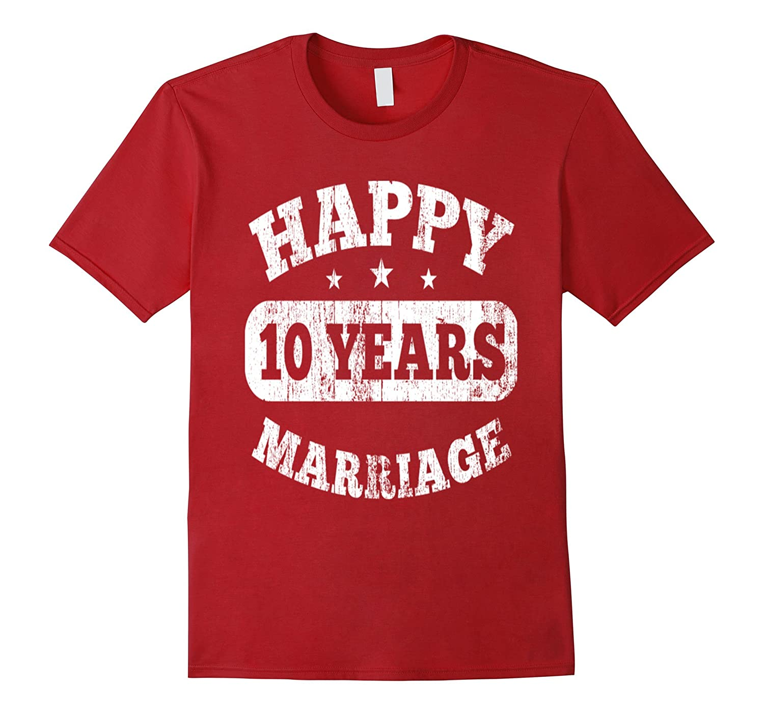 a5a66695 10 Years Happy Marriage T-Shirt-CL – Colamaga