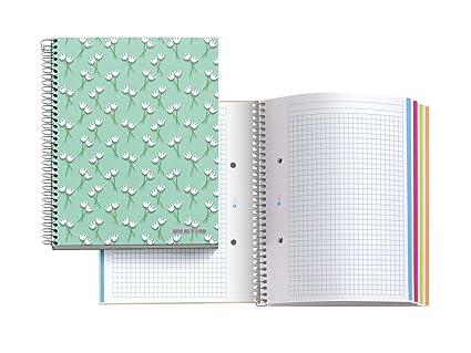 Agatha Ruiz de la Prada 47075 - Notebook 4 cartón tulipanes ...