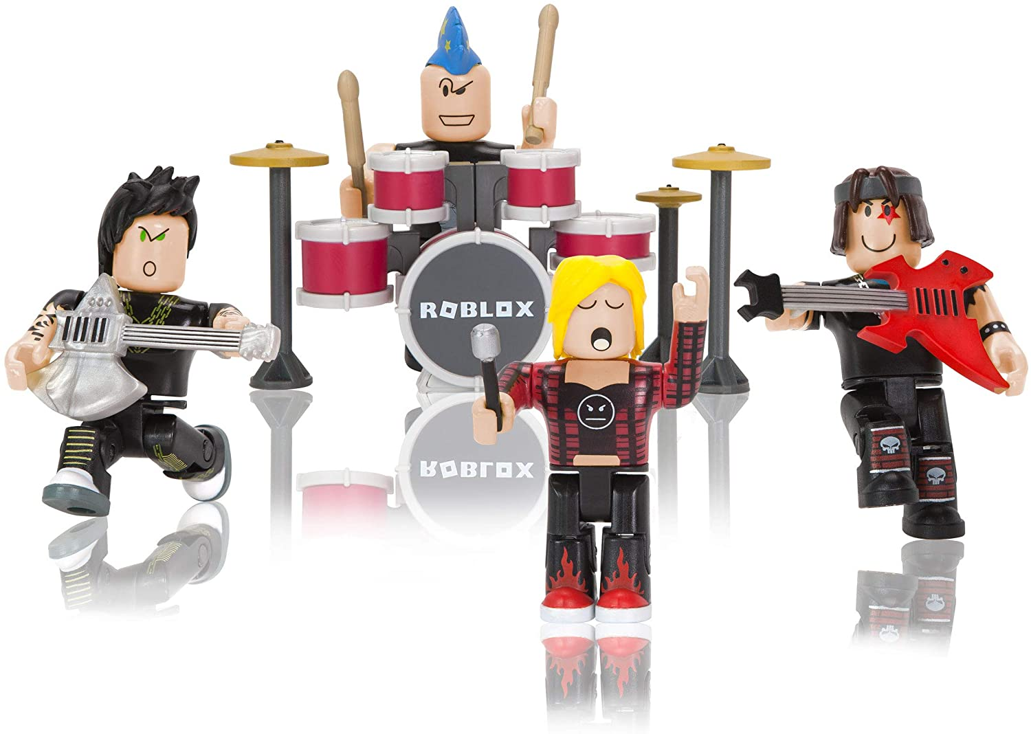 eleven s mall outfit roblox Amazon Com Roblox Action Collection Punk Rockers Four Figure Pack Includes Exclusive Virtual Item Toys Games