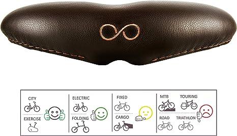 sellOttO Bello - Innovador y cómodo sillín Gel Anti Próstata Vulvitis Dermatitis - Ideal para Bicicleta Ciutad, Estática casa, Eléctrica, Piñón Fijo: Amazon.es: Deportes y aire libre