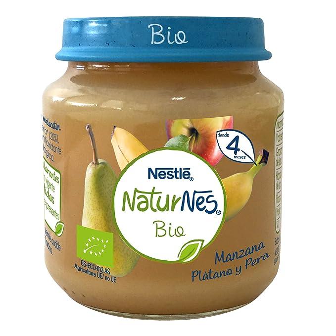 Nestlé Naturnes Bio - Puré de Manzana, Plátano y Pera - Puré Para bebés -
