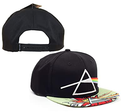 70f2949ea75 H3 Headwear Pink Floyd Mens Embroidered 3D Dark Side The Moon Flat ...