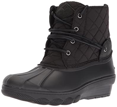 64745460bd2a Amazon.com  Sperry Women s Saltwater Wedge Tide Quilted Rain Boot  Shoes