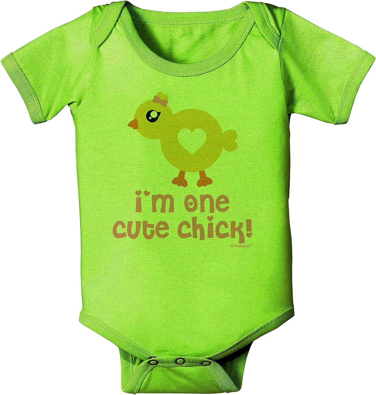 TooLoud Cute Chick Magnet Design Baby Romper Bodysuit