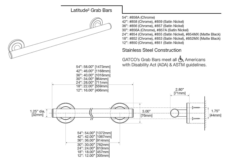 Amazon.com: Gatco 852 Latitude II 18\