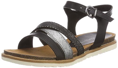 Marco Tozzi 28507, Sandalias de Talón Abierto para Mujer, Negro (Black Comb), 38 EU