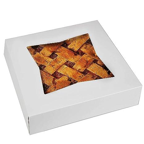 """Cake Boxes – Set de 15 cajas de ventana de pie 10 """"por 10"""""""