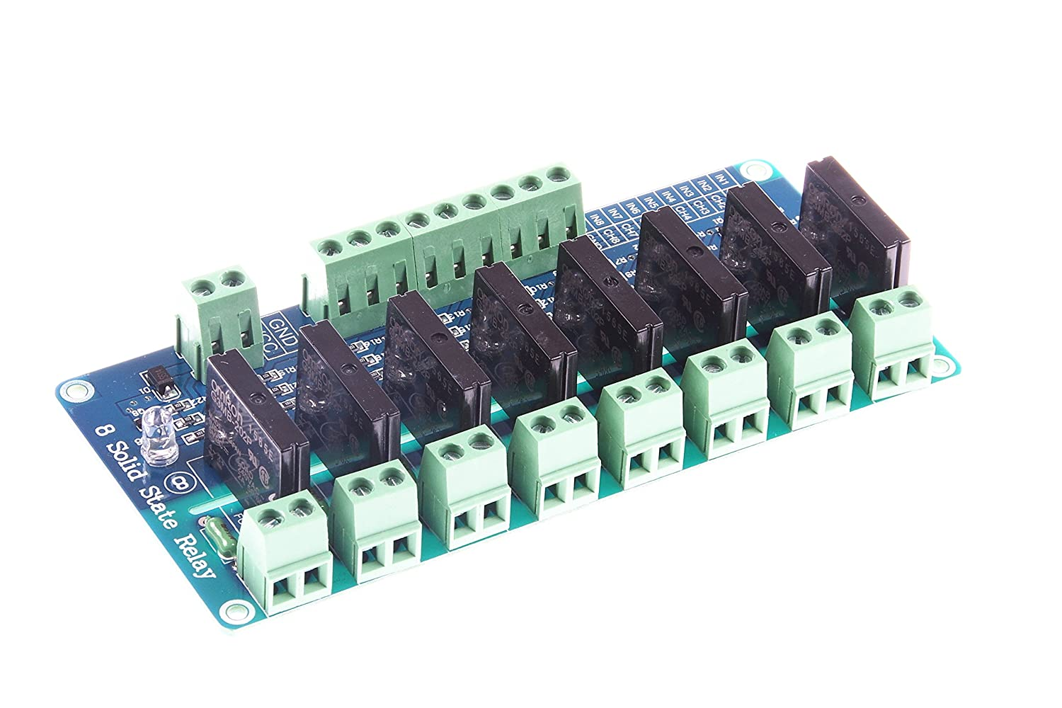 Knacro 8 Channel 5v Low Level Solid State Relay Module Dc 1 Board High Fuse For 240v 2a With Resistive Arduino Uno Duemilanove Avr Mega2560 Mega1280 Arm
