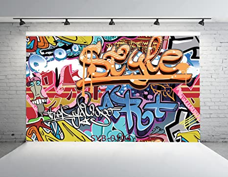 Amazon.com : 7x5ft Graffiti Series Photo Backdrops CP Customized