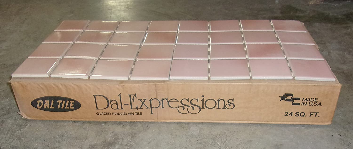 Dal Tile Coral Mist Pink Tile Ceramic Kitchen Remodel Replacement Home Improvement Repair Bathroom Backsplash Wall Entry Meshed 200 Square Feet Amazon Com