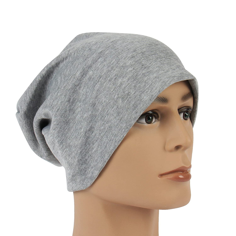 Leichte Unisex Beanie in grau klassische Mütze Slouch Cap Unisex waschbar mit Stretchanteil