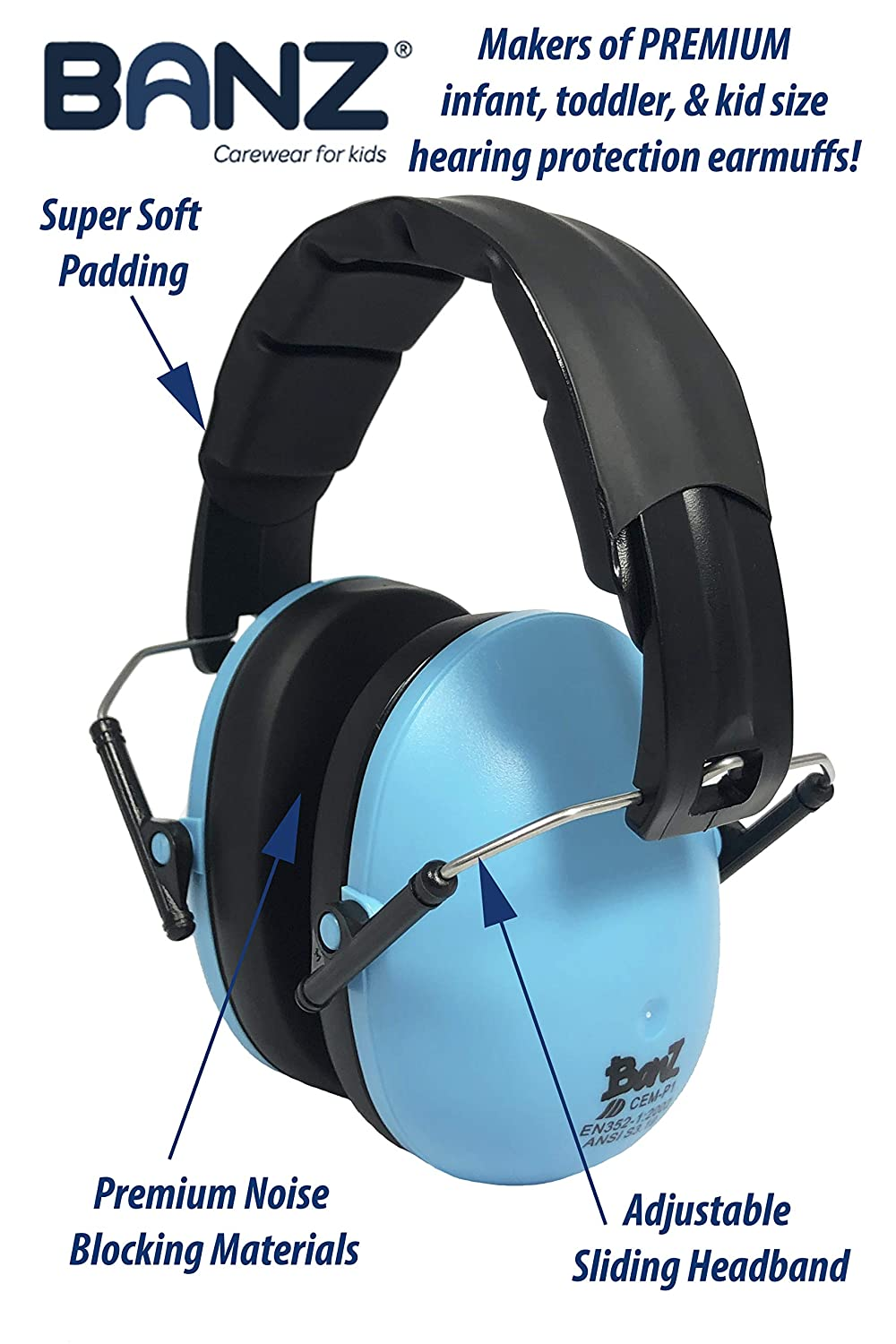 Banz Children/'s Noise Hearing Protection Ear Muffs For Ages 2-10 #0627