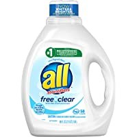 Deals on All Liquid Laundry Detergent Free Clear 58 Loads 88oz