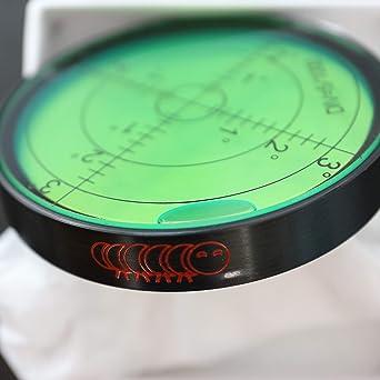 60mm Circular Round Bubble Spirit Level Surface Degree Mark Measuring Ruler E