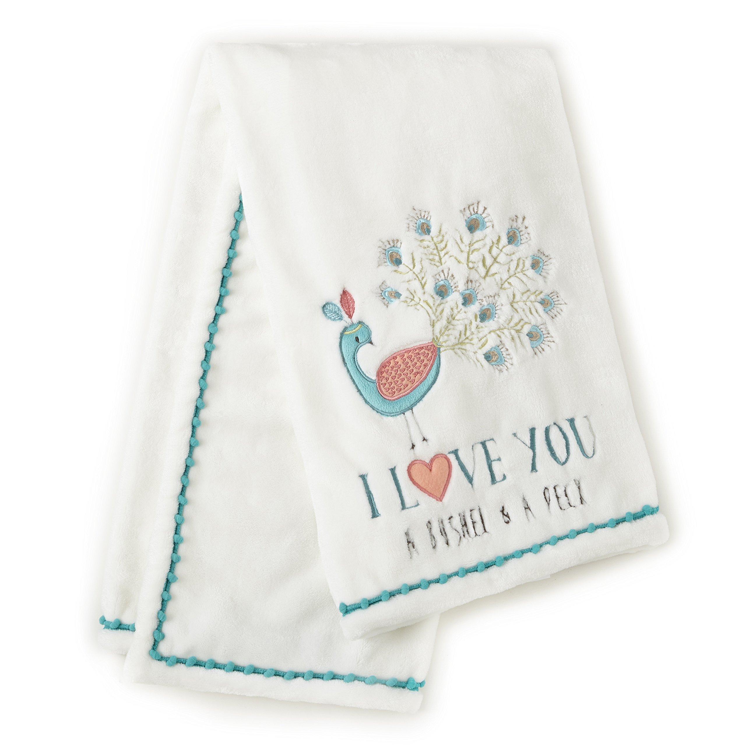 Levtex Baby Fiona Peacock Plush Blanket