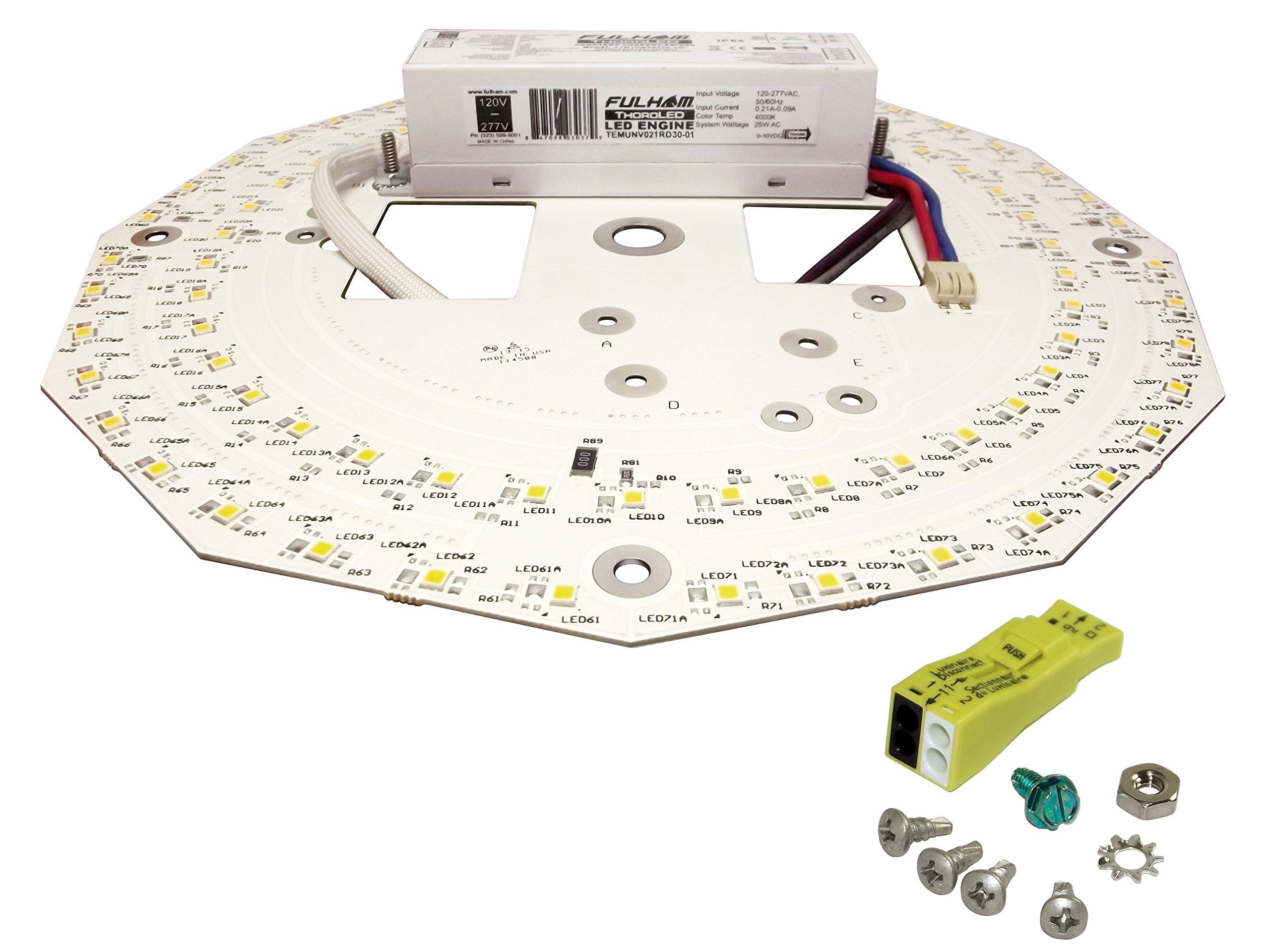 Fulham Lighting WH3-230-L Workhorse 3-Versatile Fluorescent Ballast-Instant Start-230V-Linear Model w/Side Leads Electronic