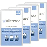 Aller-Ease Hot Water Washable Hypoallergenic Zippered Pillow Protectors, Allergist Recommended, Prevent Collection of…