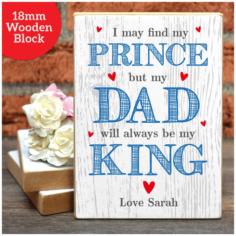 Personalised Birthday Card Daddy Dad Little Girl Daughter Wenskaarten Briefpapier