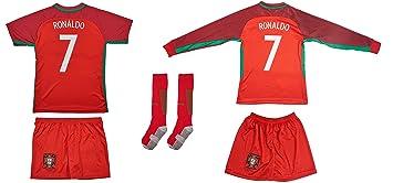 Portugal 7 Ronaldo Euro 16 Heim Kinder Trikot Und Hose Und Langen