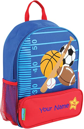 e4e68cf0a36f Personalized Stephen Joseph Sports Sidekick Backpack with Embroidered Name