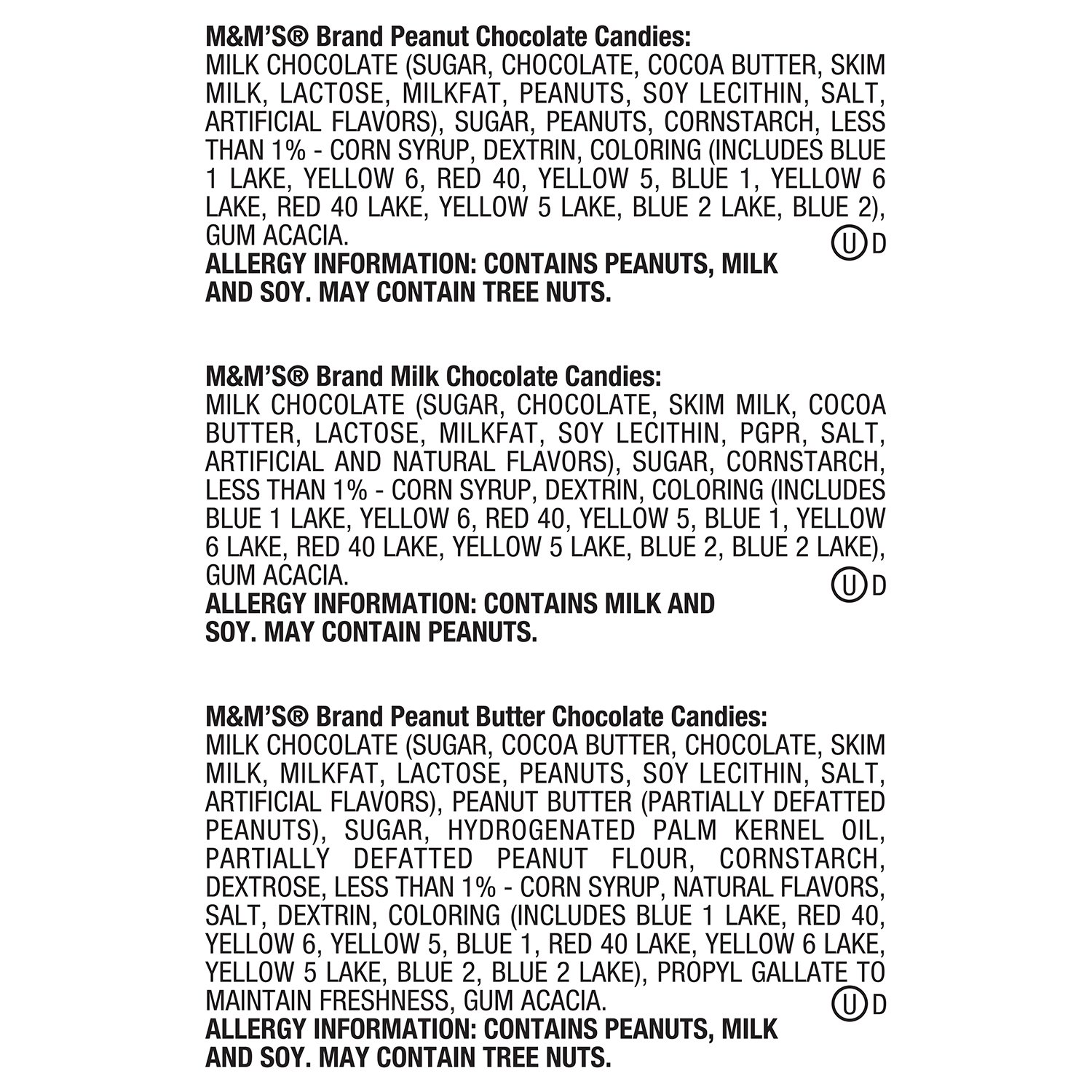 Amazon.com : M&M'S Variety Pack Chocolate Candy Singles Size 30.58 ...