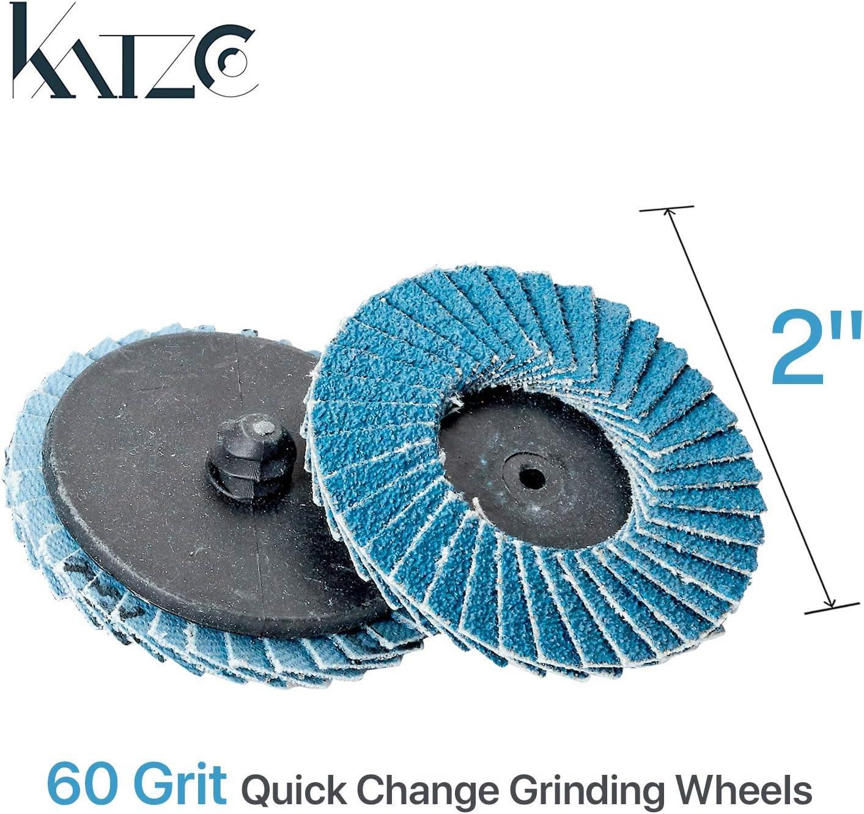 10pieces 60 Grit Sanding Grinding Wheels 50mm 2inch Flap Discs Metal Polishing