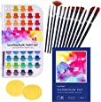 Watercolor Paint Set, Painting with Palette, Includes 48 Premium Paints, 1x24 Page Pad(A4), 12 Brushes, 2 Art Sponges and Gift Box, for Artists,Students and Kids