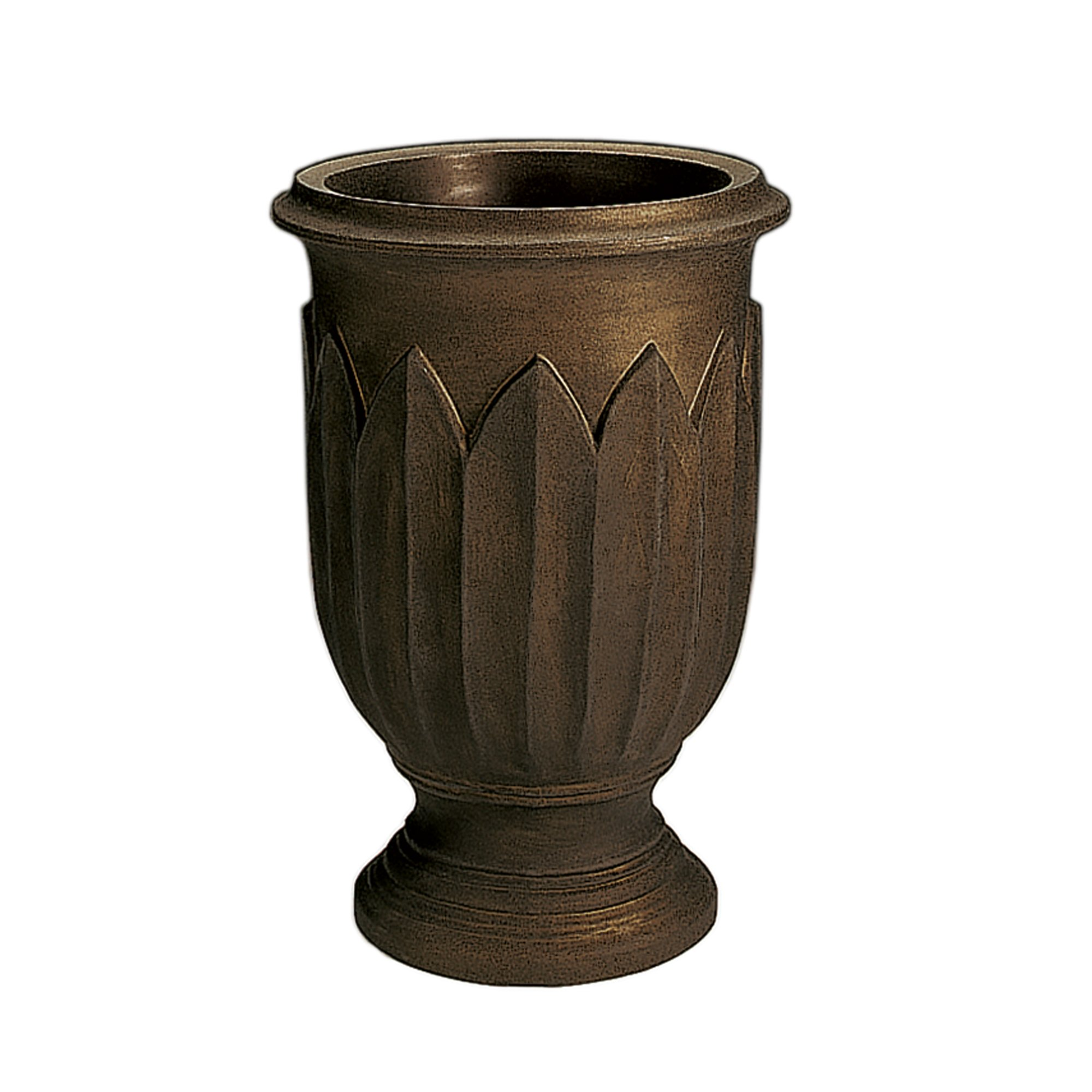 Crescent Garden Rotational Molded Freda Urn, 26'', Old Bronze