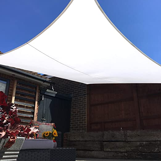 Toldo Vela Clara Shade Sail blanco impermeable sol vela de sombra para jardin impermeable UV Canopy (Rectangle 2m x3m): Amazon.es: Jardín