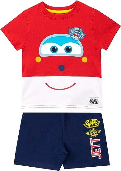 Super Wings Camiseta Conjunto de Top y Shorts para niños Jett ...