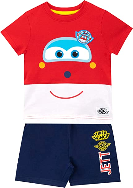 Super Wings Camiseta Conjunto de Top y Shorts para niños Jett Multicolor 4-5 Años: Amazon.es: Ropa y accesorios