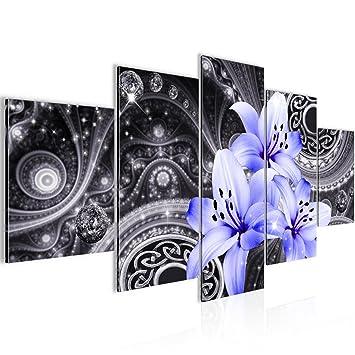 Bilder Blumen Lilien Wandbild Vlies - Leinwand Bild XXL Format ...