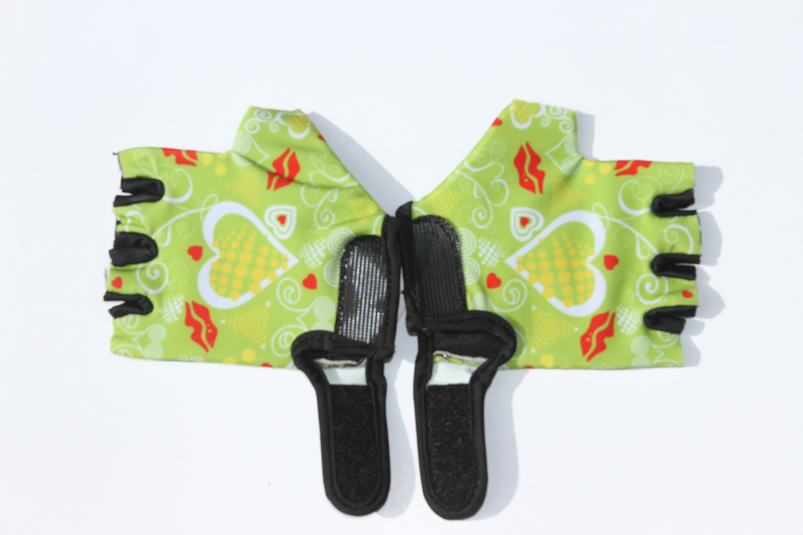 HANG Monkey Bars gloves With Grip Control (green) For Children 7 and 8 years old