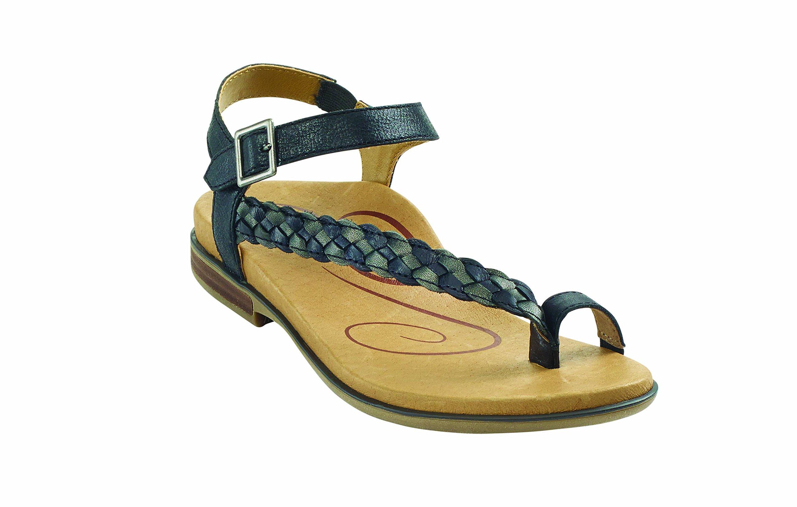 Aetrex Women's Evie Sandal BLACK W38