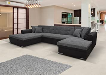 Sofa Couch Wohnlandschaft Garnitur Kaja U Form Rana Collection 365 X